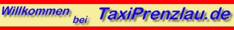 Werbung von Taxi Prenzlau